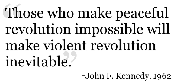 JFK Revolution Quote 1962